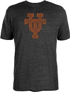 NCAA Texas Longhorns Mens Worn Interlock Tri-Blend Short Sleeve Tee, Black, Large