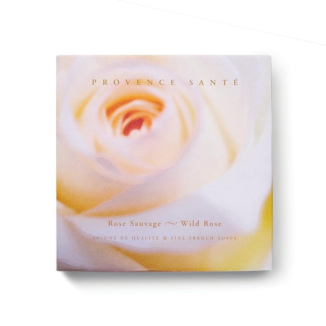フィード解放災害Provence Sante PS Gift Soap Wild Rose, 2.7oz 4 Bar Gift Box by Provence Sante [並行輸入品]