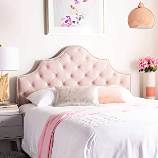 Safavieh Home Collection Arebelle Blush Pink Velvet Tufted (Queen) Headboard