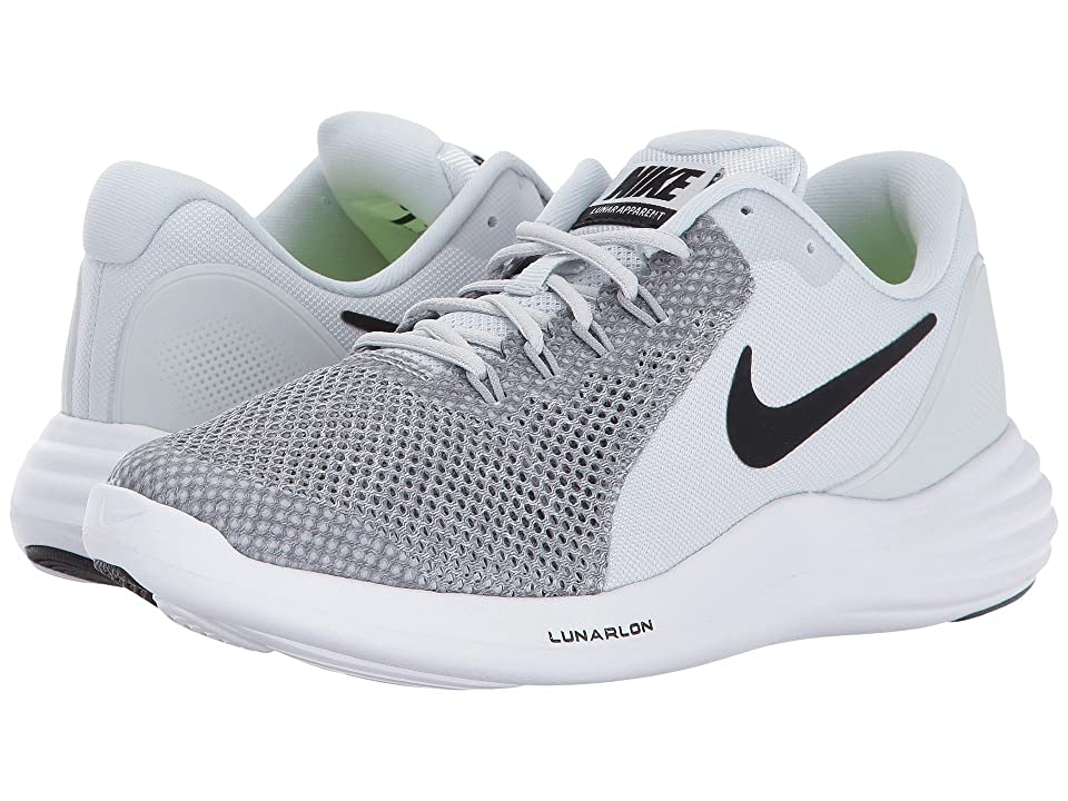 Nike Kids Lunar Apparent (Big Kid) (Pure Platinum/Black/Wolf Grey/Cool Grey) Boys Shoes