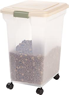 Iris Almond and Clear Airtight Pet Food Storage Container