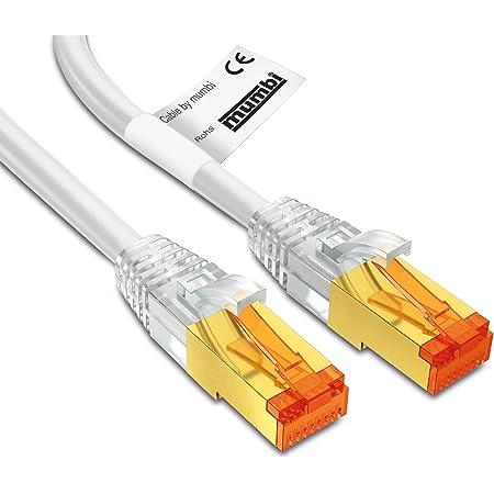 Mumbi Lan Kabel 3m Cat 7 Rohkabel Netzwerkkabel S Computer Zubehör