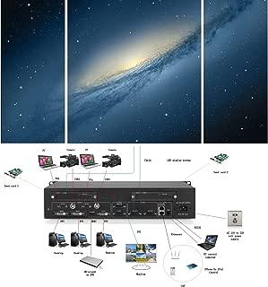 Uniharpa HDMI LED Display Video Wall Processor Shows 3 Displays HD TV Max Load of 2560 × 1536 @60Hz Video Wall Controller Windows Kystar KS910E