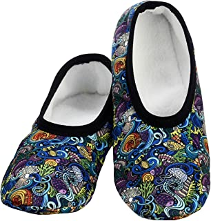 Snoozies Skinnies Lightweight Slippers   Cozy Slippers for Women   Travel Flats On The Go   Womens Slippers