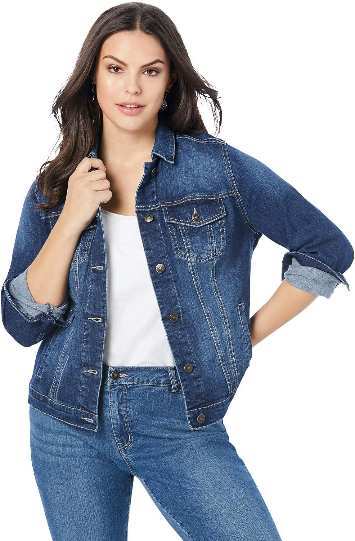 Roaman's Women's Plus Size Essential Denim Jacket