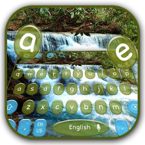 Natural Waterfall Keyboard Theme