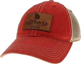 Legacy Athletics Old Favorite Trucker Hat with Athens, Georgia Leather Patch