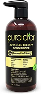 PURA D'OR Advanced Therapy Conditioner - for Increased Moisture, Strength, Volume & Texture, Sulfate free, made With Argan Oil & Biotin, All Hair Types, Men & Women, 16 Fl Oz (Packaging May Vary)