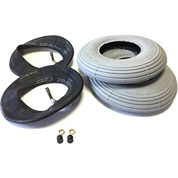 Schlauch 200x50 Karren Reifen 2 x Reifen Schlauch 200 x 50 Ventil WV 90//30