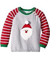 Santa Long Sleeve Christmas Sweater (Infant/Toddler)