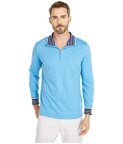 Robert Graham Triple Crown 1/4 Zip Sweater (Light Blue) Men