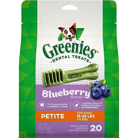 Greenies Blueberry Natural Dental Dog Treats, 12oz Packs