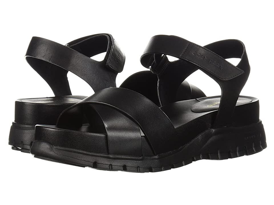 Cole Haan Zerogrand Sandal II (Black Leather/Black) Women