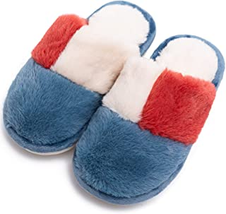 Boys Girls Fluffy Slippers Soft Comfy Plush House Slippers for Kids Cute Fuzzy Fur Indoor Warm Shoes (Toddler/Little Kids)