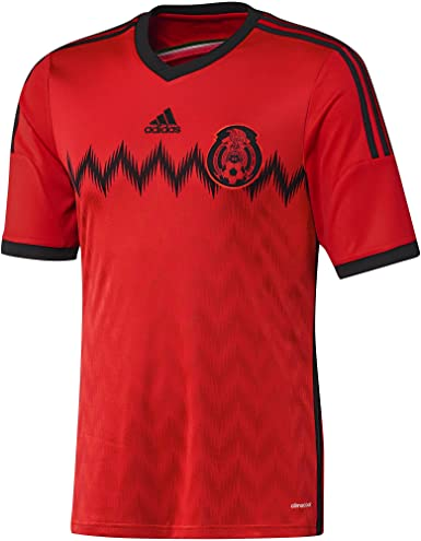 Amazon.com: adidas MEXICO FMF AWAY JERSEY 2014 (SMALL/ADULTS, RED ...
