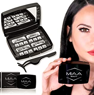 Full Eye Natural & Bold [ 2 Sets 3 Magnet Magnetic Eyelashes] 100% Cruelty Free Premium Silk False Lashes with Free Applicator & Mirror Case - Glue Free Non-Allergic Reusable & Lightweight