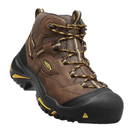 8b07e1d0097 KEEN Utility - Men s Braddock All Leather Mid Waterproof (Steel Toe) Work  Boots