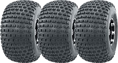 WANDA 3 New 3 Wheeler ATV Tires 22X11-8 4PR P322 Dimple Knobby - 10026