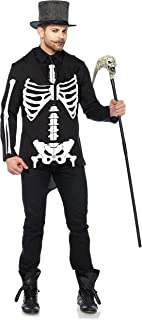 Leg Avenue Men's Bone Daddy Costume, Black/White, Small