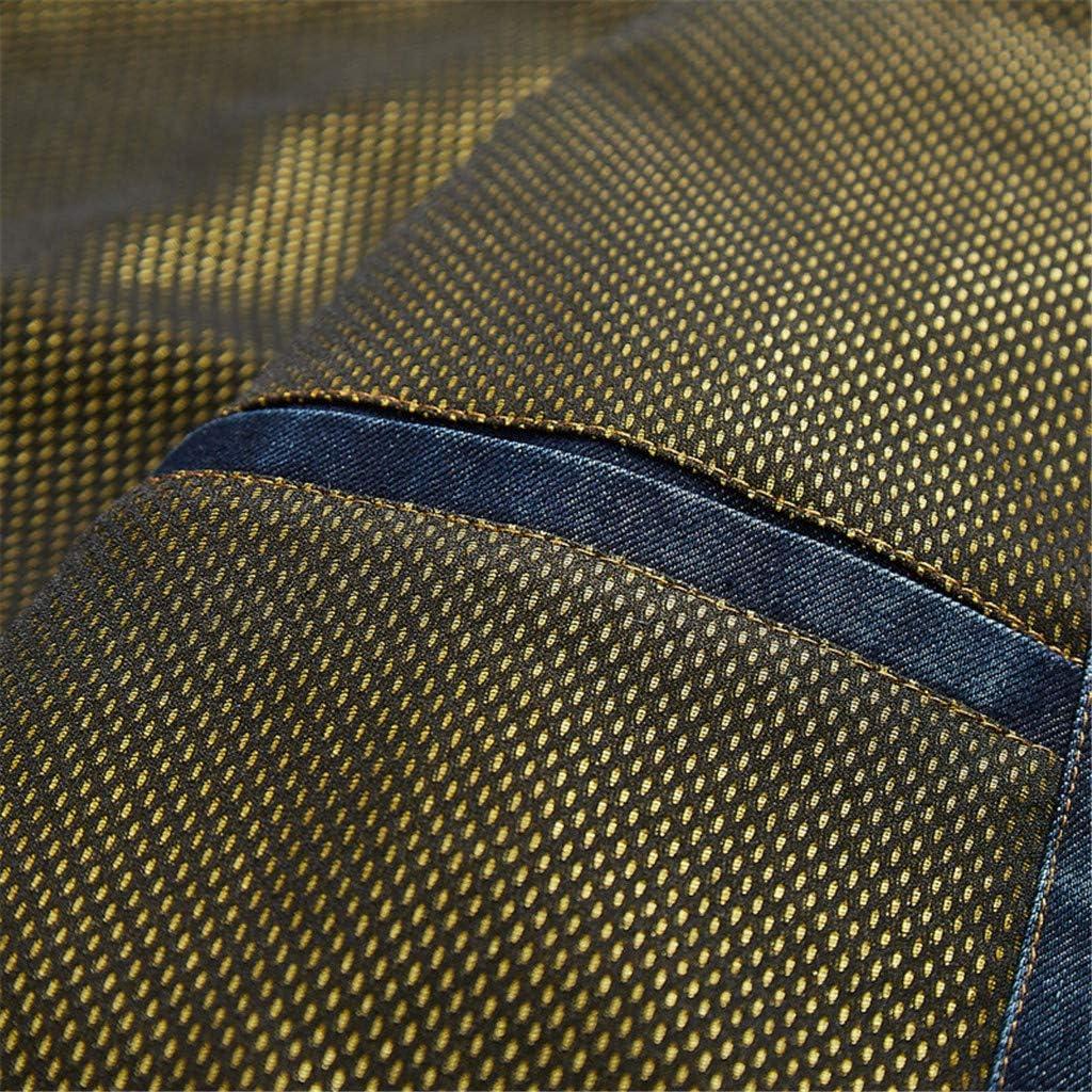 Mens Denim Jacket Biker Bomber Jacket, NRUTUP Button Down American Legend Denim Jacket Cool Winter Casual Jacket