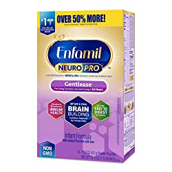 Enfamil NeuroPro Gentlease Baby Formula Gentle Milk Powder Refill, MFGM, Omega 3 DHA, Probiotics, Ir