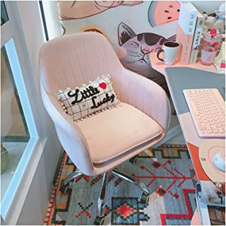 LYJBD Silla de Oficina en casa Cojín Grueso Cojín Giratorio Ajustable Flexible Silla de Escritorio cómoda sin Brazos Asiento Ajustable en Altura
