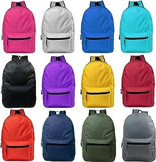 """15"""" Wholesale Bulk Backpacks for Students - Case of 24 Bookbags"""