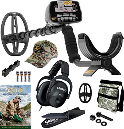 GARRETT AT GOLD METAL DETECTOR W/EDGE DIGGER CAMO POUCH BOOK & INSTRUCTION DVD by