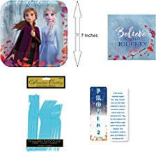 Frozen 2 Birthday Princess Party Bundle: 16 Paper Plates, 16 Paper Napkins, 16 Sets of Plastic Utensils (Fork, Knife & Spoon) and an Exclusive ElevenPlus 2 Bookmark
