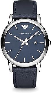 Armani Exchange Mens Quartz Watch, Analog Display and Leather Strap AR1731