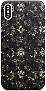 Case Warehouse Pequeño Suns, Moons y Nubes astrológico Slim Funda para iPhone XS TPU Protector Ligero Phone Protectora con...