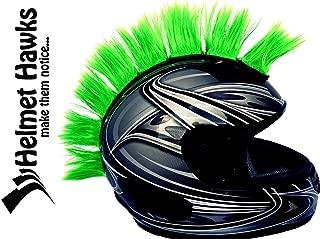 Helmet Hawks Motorcycle, Snowboard Helmet Mohawk w/Sticky Hook and Loop Fastener Adhesive (8) Hair Patches 2