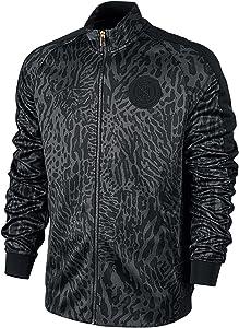 Nike Men's Futbol Club N98 Allover Print GX Full-Zip Track Jacket Black