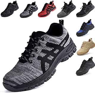SUADEX Steel Toe Work Shoes Men Women Indestructible Safety Shoes Lightweigh Puncture Proof Toe Shoes Industrial Construction Shoes
