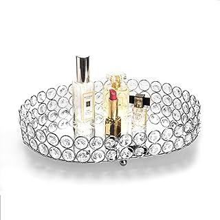 Feyarl - Bandeja de cristal para perfumes bandeja decorativa para decoración de té bandeja para joyas ornamentadas band...