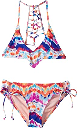 Chevron and on Triangle Top & Hipster Swim Set (Big Kids)