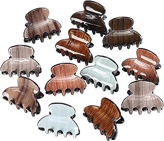 Hair Claw Clips Jaw Hairpins - 12PCS Mini Size Non-slip Hair Claw Clamps Acrylic Claw Hair Clips for Women Girls Hair Styl...
