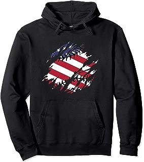 Baseball Stitches Hoodie American Flag Baseballin Gifts