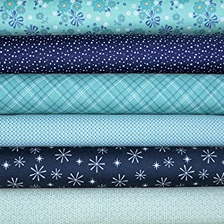 Calico Days 6 Fabric Fat Quarters by Mixed Designers for Riley Blake, 1.5 yards (Fat Quarter Cuts)