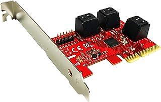 Ableconn PEX-SA156 6ポート SATA 6G PCI Express x4 ホストアダプターカード - AHCI 6Gbps SATA III ポートマルチプライヤー PCIe 3.0 4レーン ロープロファイルコントローラー...