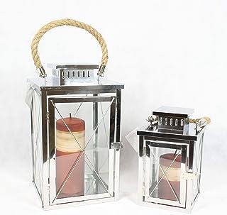Pajoma 82204 lanterna in acciaio inox set di 2