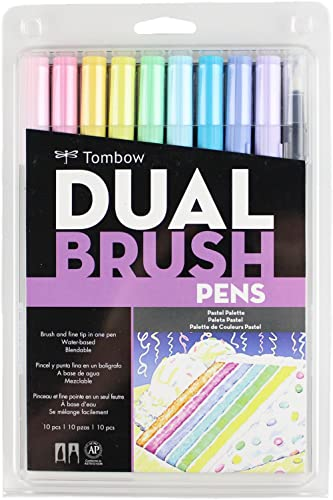 Tombow Pen Dual Brush Markers, Pastel