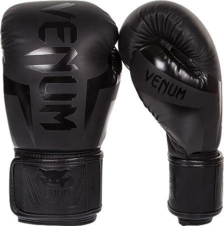 Venum Elite Boxing Gloves, Black, 16 oz
