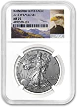 2015 W Burnished Silver Eagle MS-70 NGC (Eagle Label) 1 OZ MS-70 NGC