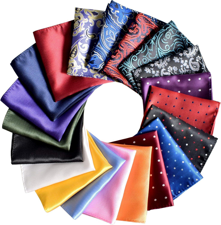 Pocket Squares for Men 20 Pack Mens Pocket Squares handkerchiefs Set Assorted Colors with Box