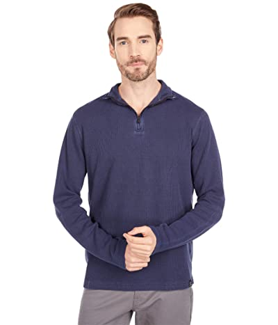 Lucky Brand French Rib 1/2 Zip Mock Sweatshirt (Black Iris) Men