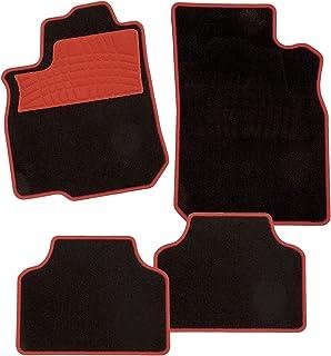 CarFashion 235952 Juego de alfombrillas, 4 piezas, Rojo