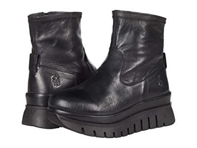 FLY LONDON BORK060FLY (Black Verona Leather) Women