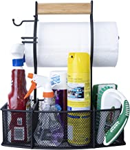 Superior Trading Co. Heavy Duty Steel Use Organizing Paper Towels, Condiments, Tools for Grill, BBQ, Picnics, Garage, Cars,and Household Cleaning Caddy, Large, Black