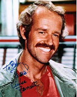 MIKE FARRELL HAND SIGNED 8x10 COLOR PHOTO+COA GREAT POSE FROM MASH TO BOB